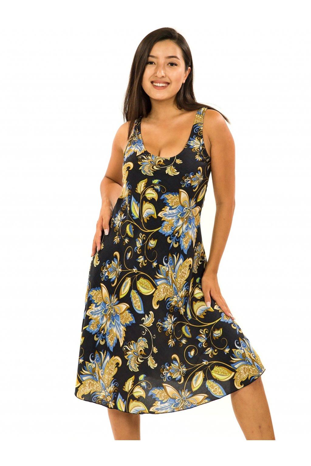 Šaty Ava Rauna - černé s barvami