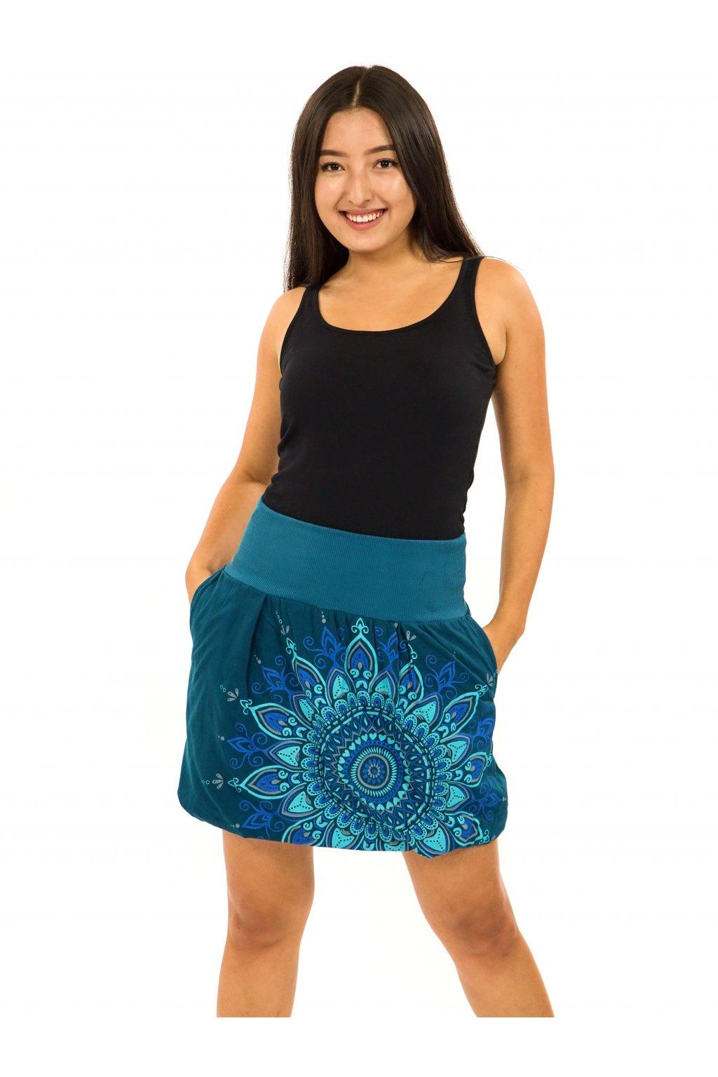 Balonová sukně Mokulea - petrolejová s tyrkysovou