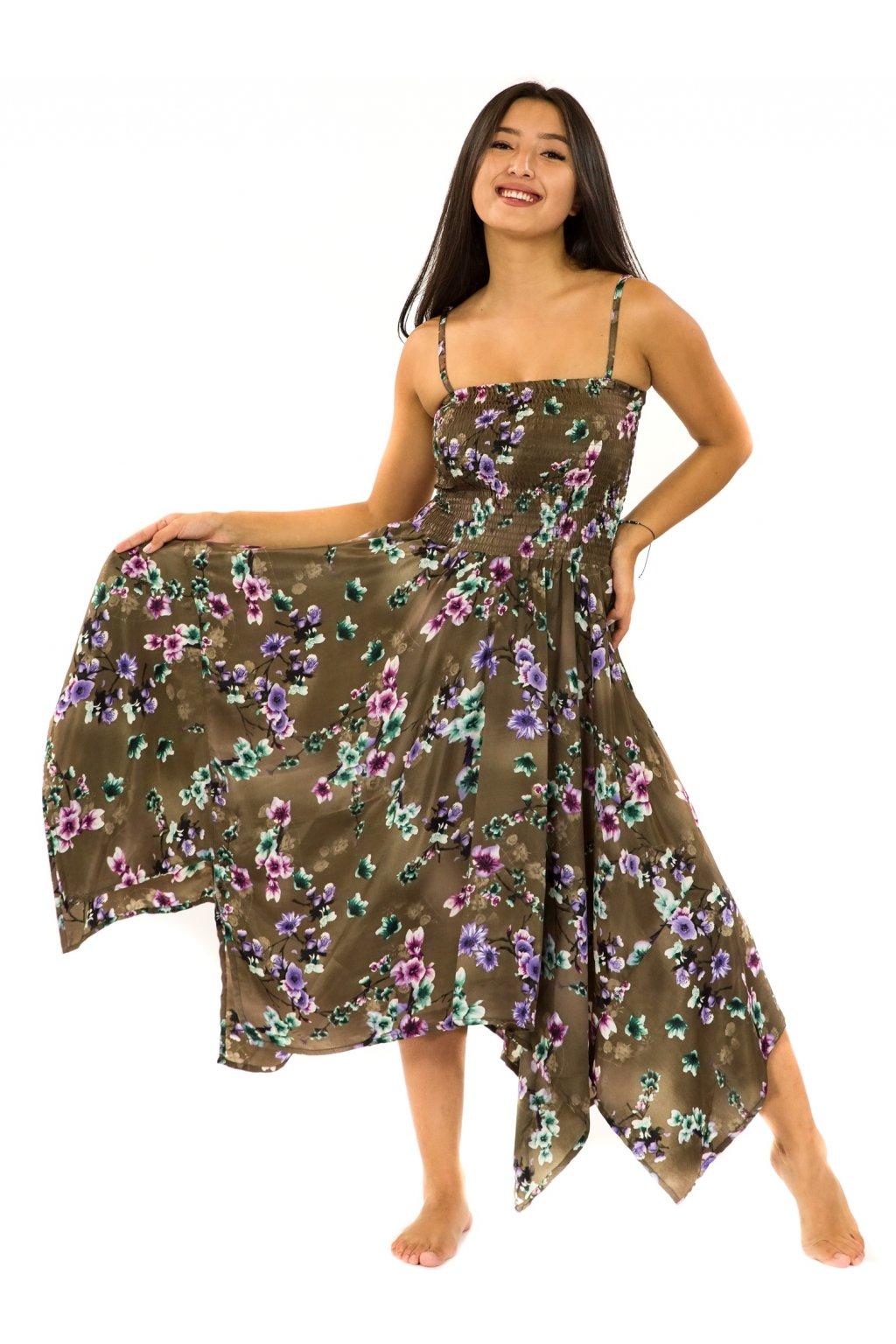 Šaty-sukně 2v1 Dawa Soha - hnědá