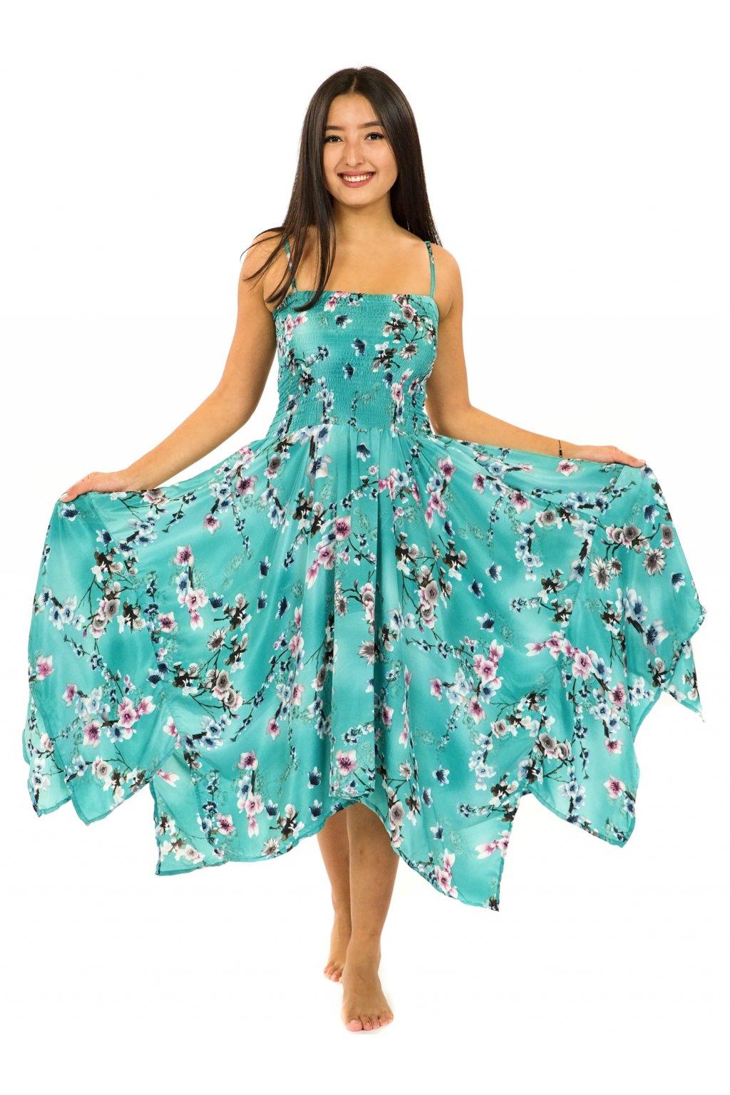 Šaty-sukně 2v1 Dawa Soha - tyrkysová