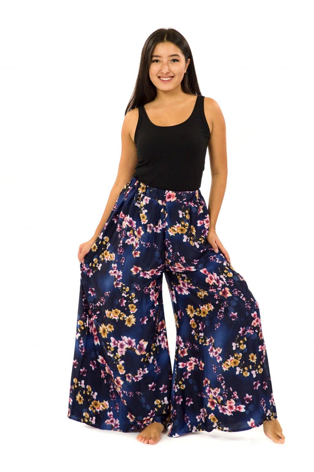 Kalhotová sukně Soha - tmavě modrá