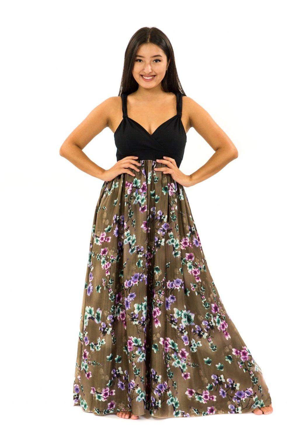 Dlouhé šaty Soha - hnědá