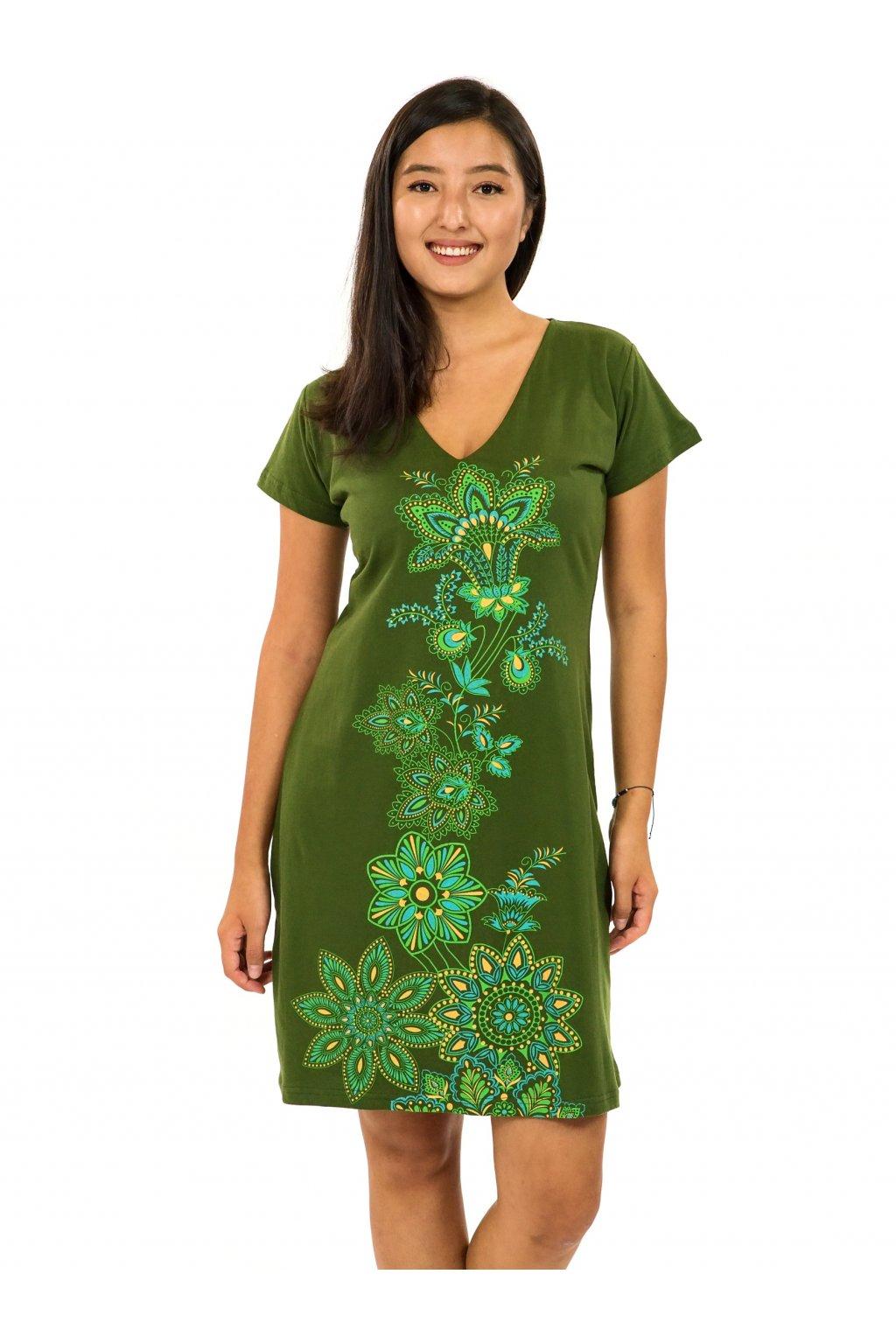 Šaty s krátkým rukávem Rori - zelená