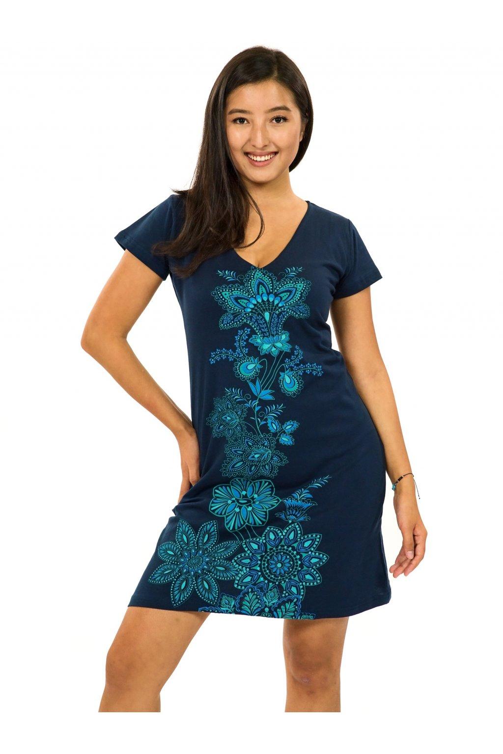Šaty s krátkým rukávem Rori - tmavě modrá