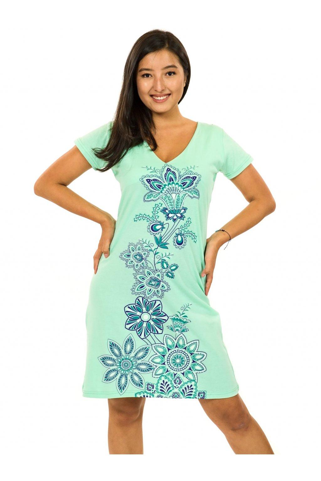 Šaty s krátkým rukávem Rori - tyrkysová