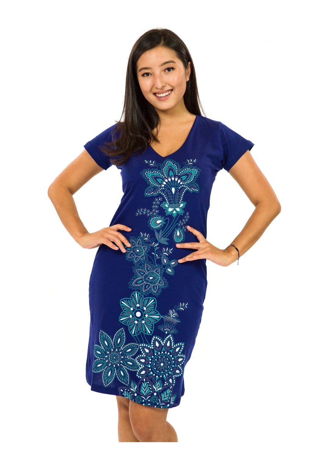 Šaty s krátkým rukávem Rori - královská modrá