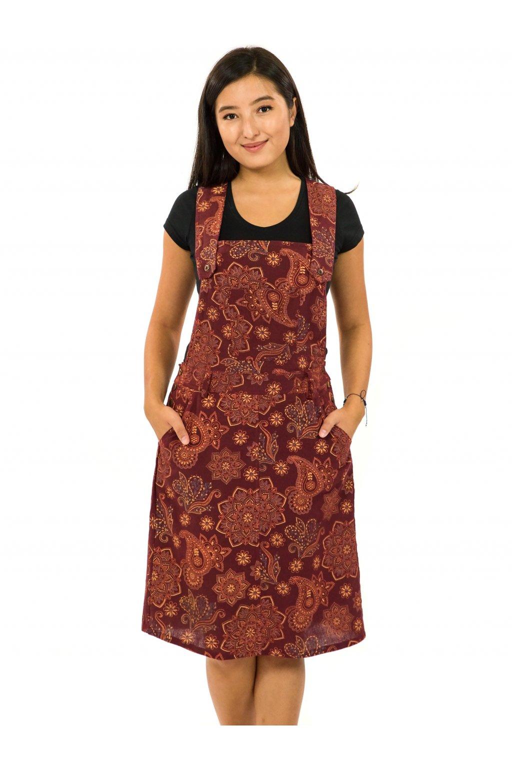 Laclové šaty Pemba - vínová