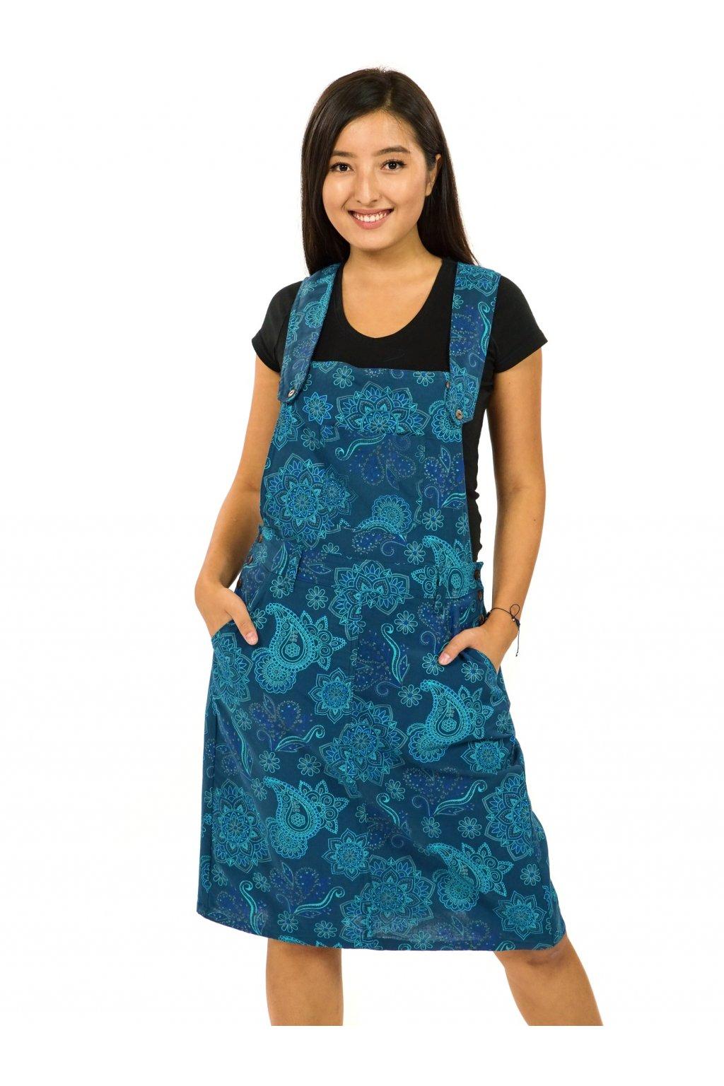 Laclové šaty Pemba - petrolejová