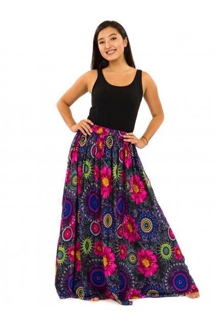 Maxi sukně s kapsami Elara - černá