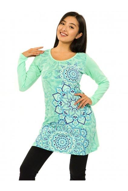Šaty s dlouhým rukávem Taika - tyrkysová