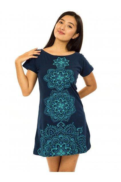 Šaty s krátkým rukávem Amavi - tmavě modrá