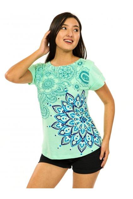 Tričko s krátkým rukávem Zafira - tyrkysová