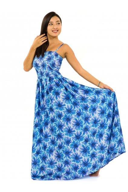 Dlouhé šaty s kapsami Shira - tyrkysová