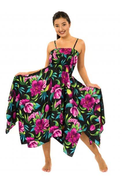 Šaty-sukně 2v1 Dawa Nara - černá s fialovou