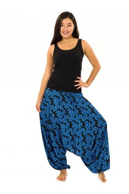Kalhoty-šaty-top 3v1 Pomněnka - černá s modrou