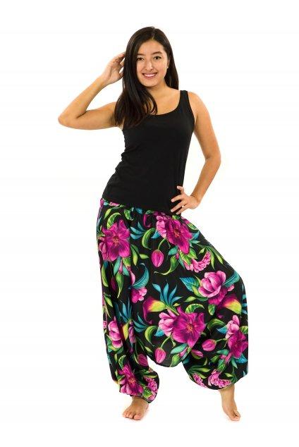 Kalhoty-šaty-top 3v1 Nara - černá s fialovou