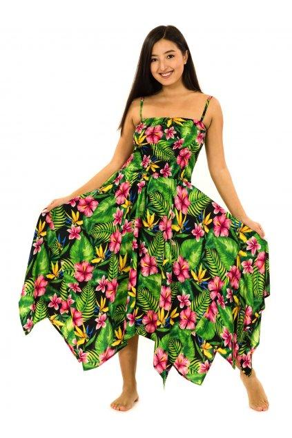 Šaty-sukně 2v1 Dawa Rania - černá s barvami