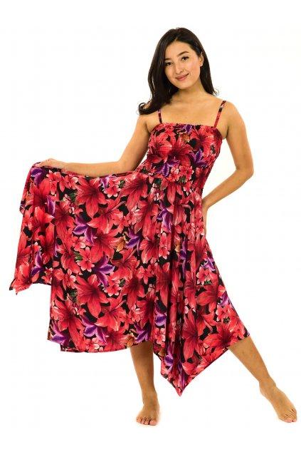 Šaty-sukně 2v1 Dawa Lilie - černá s červenou