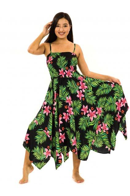 Šaty-sukně 2v1 Dawa Serena - černá s barvami