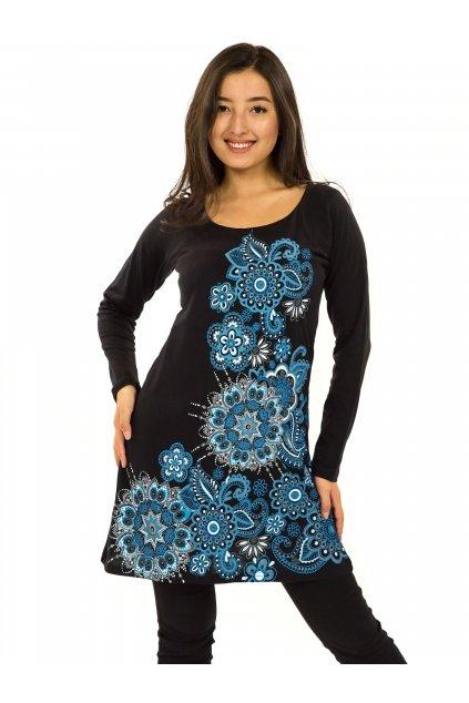 Tunika Waimea - černá s modrou