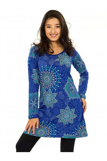 Šaty s dlouhým rukávem Sambora - královská modrá
