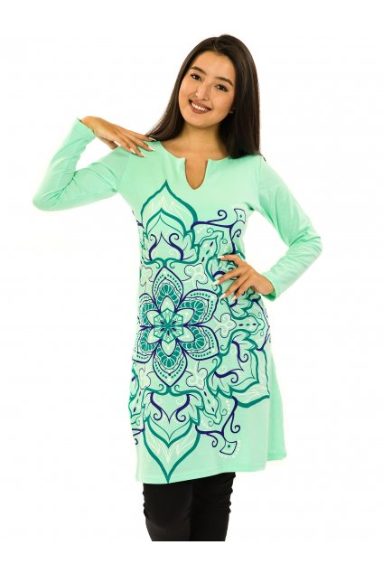 Šaty s dlouhým rukávem Sheela - tyrkysová