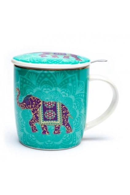 Čajový set Slon - tyrkysový