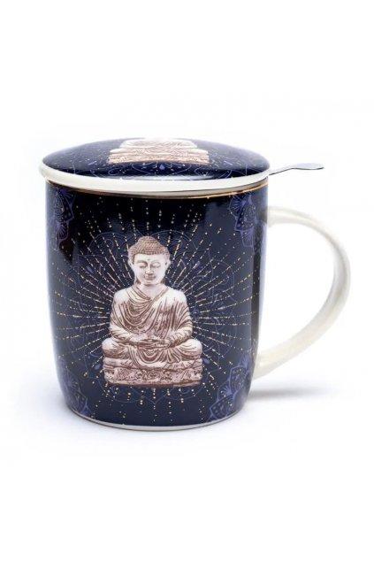 Čajový set Buddha - tmavě modrý
