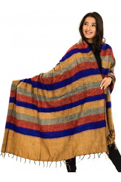 Deka/pléd Yak wool Nepal 61