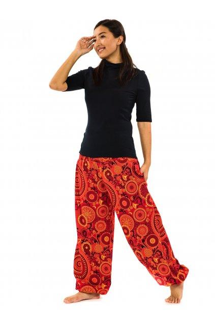 Kalhoty Karki - červené