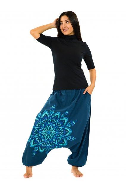 Harémové kalhoty Rania - petrolejové