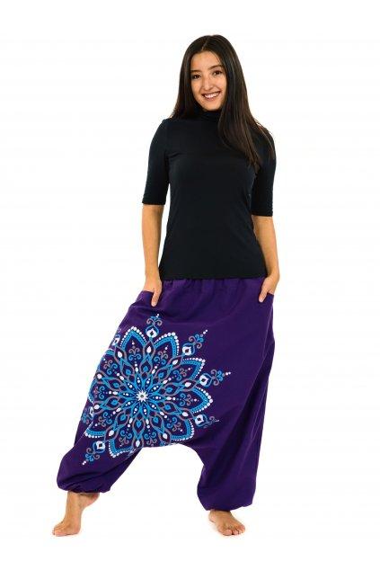 Harémové kalhoty Rania - fialové