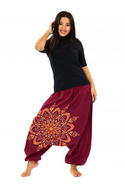 Harémové kalhoty Rania - vínové