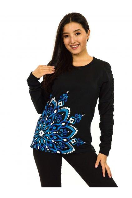Mikina Aisha - černá s modrou