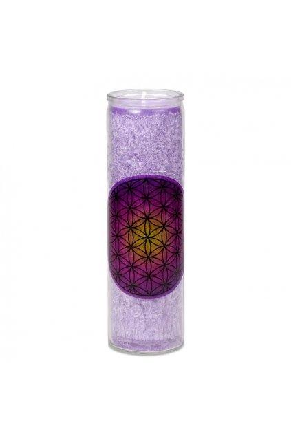 Vonná svíčka Květ života - fialová - velká