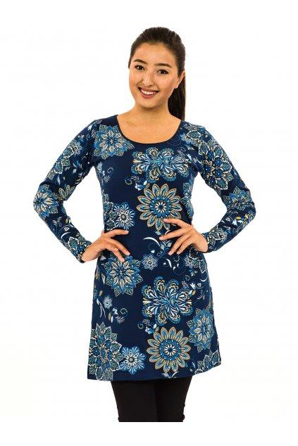 Šaty s dlouhým rukávem Moya - tmavě modrá