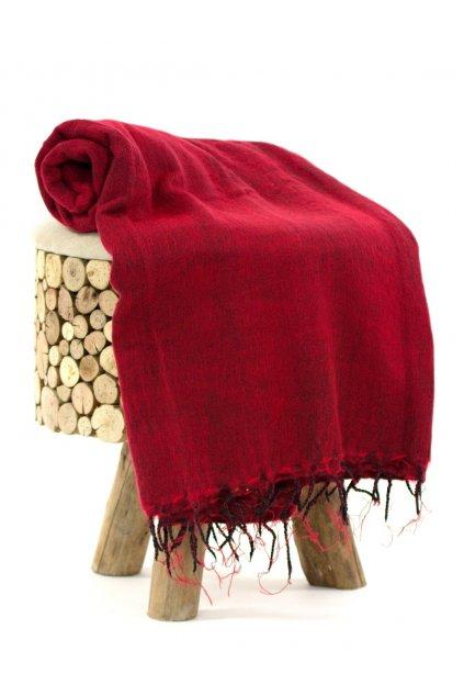 Deka/pléd Yak wool Nepal 23
