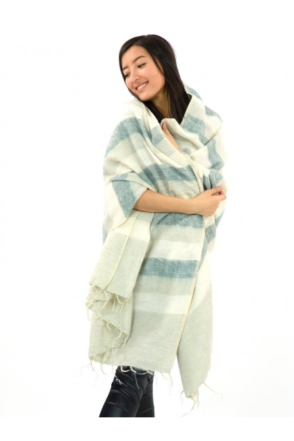Deka/pléd Yak wool Nepal 6