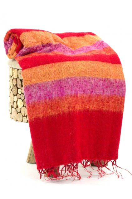 Deka/pléd Yak wool Nepal 7