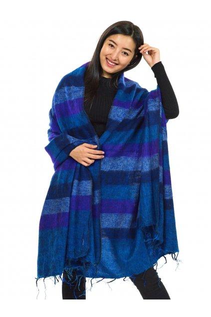 Deka/pléd Yak wool Nepal 8