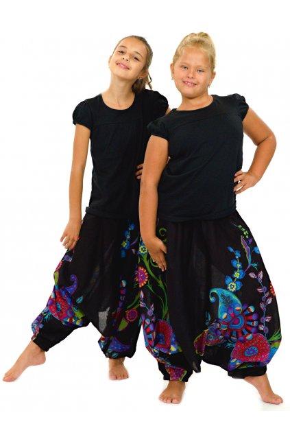 Dětské kalhoty-šaty-top 3v1 Garden of Nepal - černé