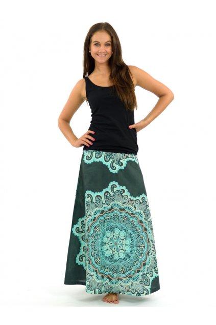 Dlouhá sukně  Sun - tyrkysová