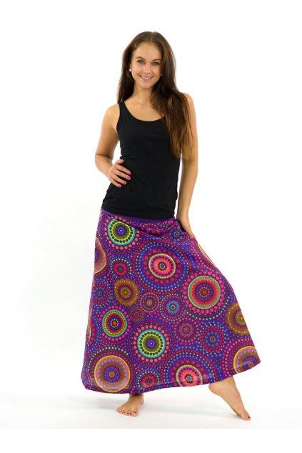 Dlouhá sukně Dot - fialová