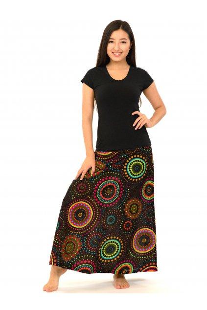 Dlouhá sukně Dot - černá