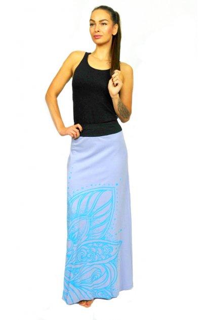 Dlouhá sukně Lotos - fialová