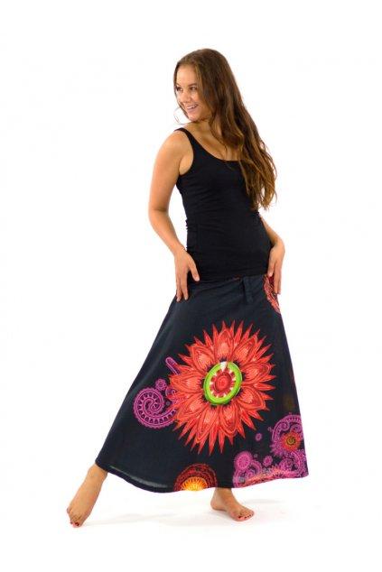 Dlouhá sukně Mandala - oranžová