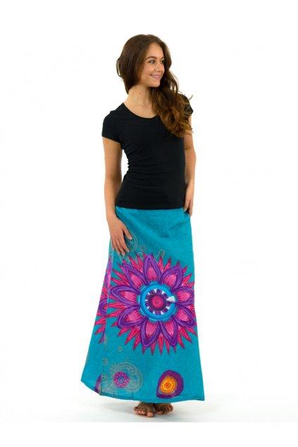 Dlouhá sukně Mandala of Nepal - tyrkysová