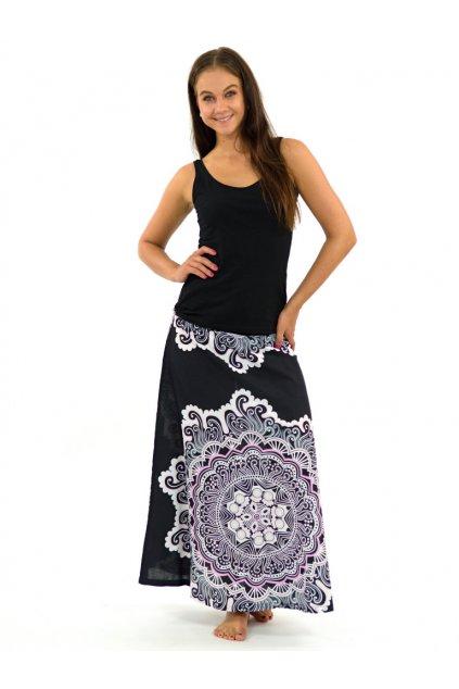 Dlouhá sukně Sun - černo-bílá