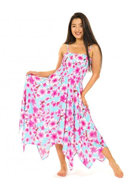 Šaty-sukně 2v1 Dawa Sakura - tyrkysové