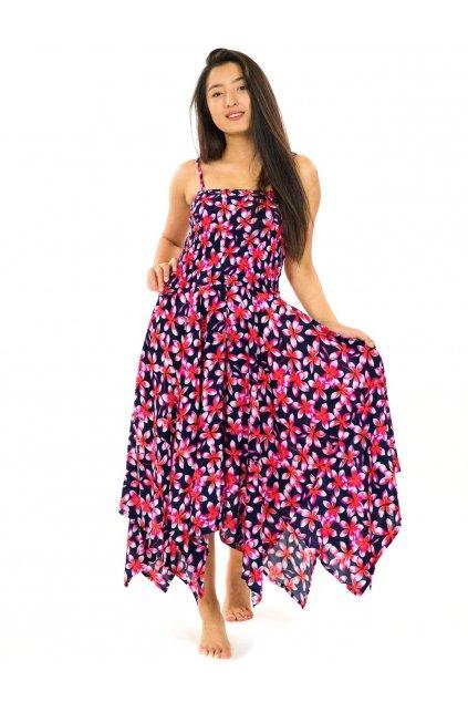Šaty-sukně 2v1 Dawa Plumeria - černé